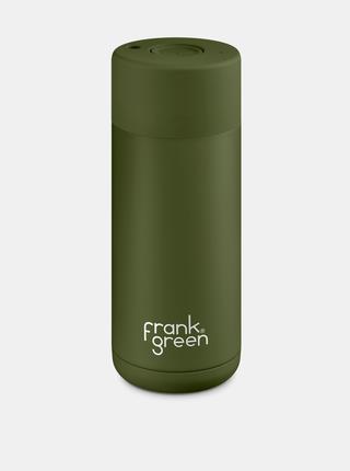 Khaki nerezový cestovní hrnek Frank Green Ceramic 475 ml