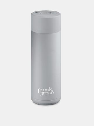 Šedá nerezová láhev Frank Green Ceramic 595 ml