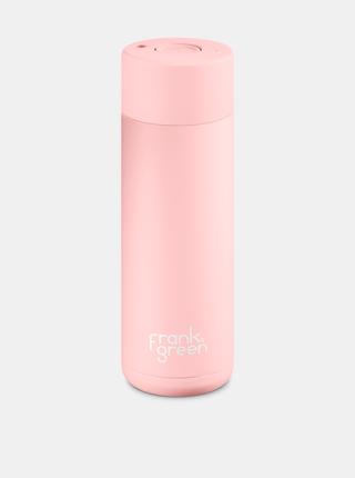 Růžová nerezová láhev Frank Green Ceramic 595 ml