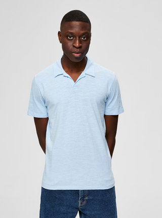 Světle modré polo tričko Selected Homme Jared