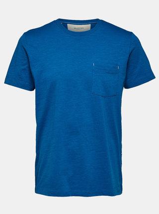 Tmavě modré basic tričko Selected Homme Jared