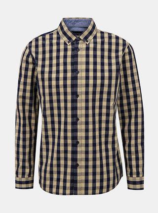 Béžová pánská kostkovaná košile ZOOT Aiden