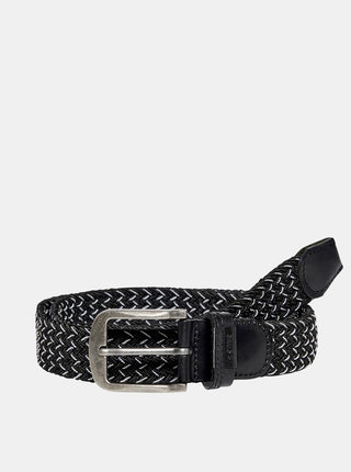 Čierny opasok s koženými detailmi ONLY & SONS Cas