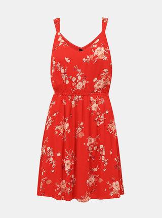 Červené kvetované šaty ONLY