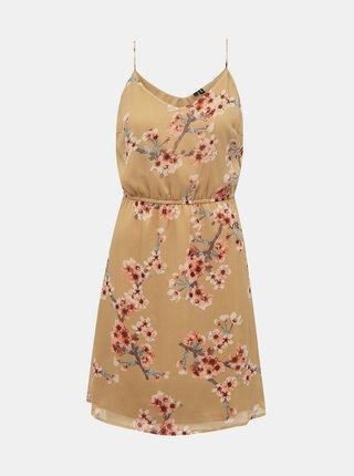 Béžové kvetované šaty VERO MODA