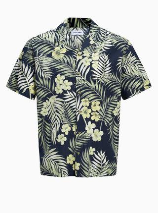 Tmavě modrá vzorovaná košile Jack & Jones Tropical