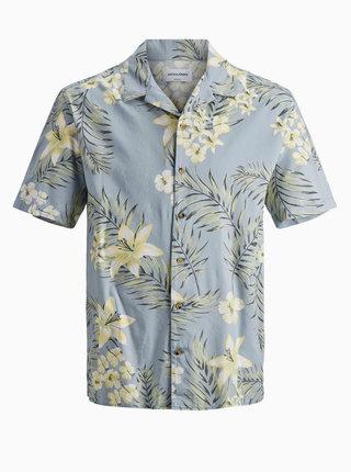 Světle modrá vzorovaná košile Jack & Jones Tropical