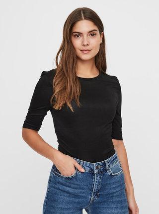 Černé basic tričko VERO MODA Mette