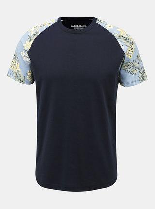 Tmavomodré tričko Jack & Jones Tropic