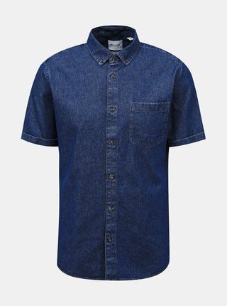 Tmavomodrá rifľová košeľa ONLY & SONS
