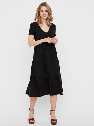 Černé midi šaty Noisy May Marble