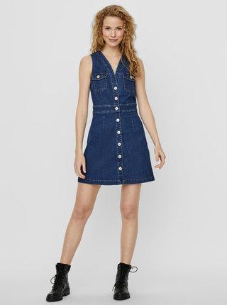 Modré rifľové šaty Noisy May Alice