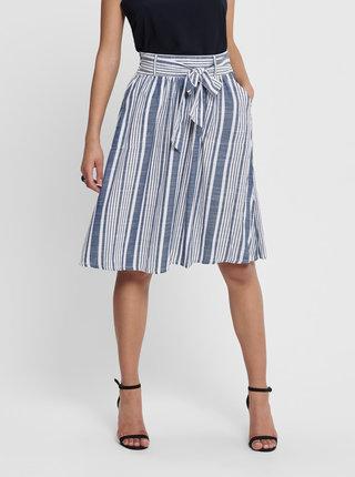 Bílo-modrá pruhovaná sukně ONLY Lavana