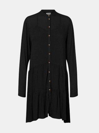 Černé košilové šaty Noisy May Fleur