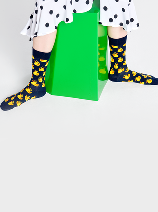 Tmavomodré vzorované ponožky Happy Socks Rubber Duck