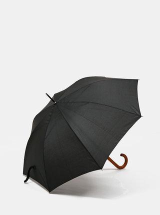 Čierny pánsky vystreľovací dáždnik Dice