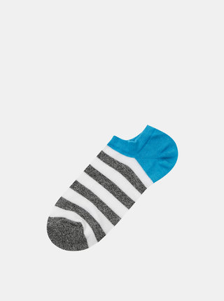 Modro-bílé pruhované ponožky Marie Claire