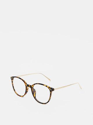 Hnědé dámské vzorované brýle Haily´s