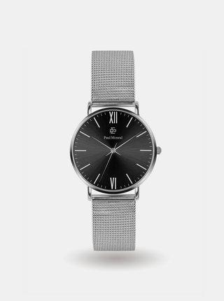 Pánské hodinky s nerezovým páskem ve stříbrné barvě Paul McNeal