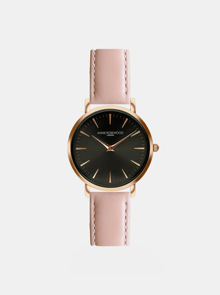 Dámské hodinky s růžovým koženým páskem Annie Rosewood Primrose