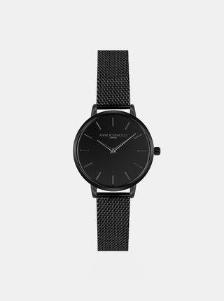 Dámske hodinky s čiernym nerezovým remienkom Annie Rosewood