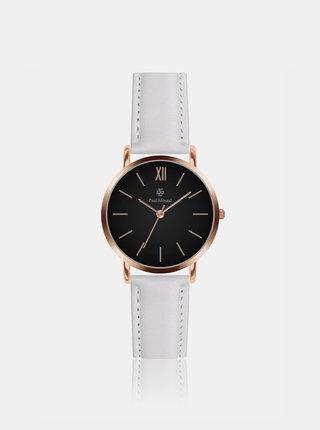 Dámské hodinky s bílým koženým páskem Paul McNeal
