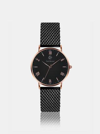 Unisex hodinky s černým nerezovým páskem Paul McNeal
