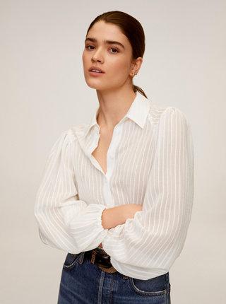 Bílá pruhovaná košile Mango Adriana