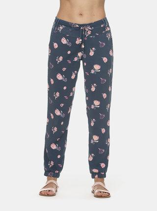 Modré dámské květované kalhoty Ragwear