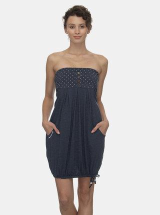 Tmavě modré balónové šaty Ragwear
