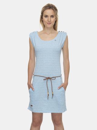 Světle modré pruhované šaty Ragwear