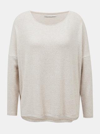 Krémový voľný sveter ONLY