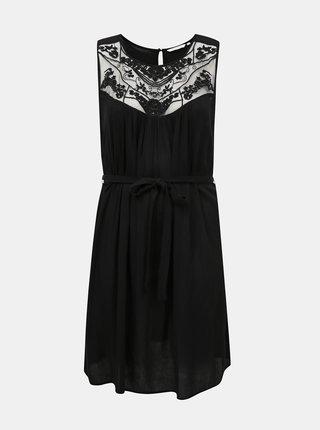 Čierne šaty s krajkou ONLY CARMAKOMA