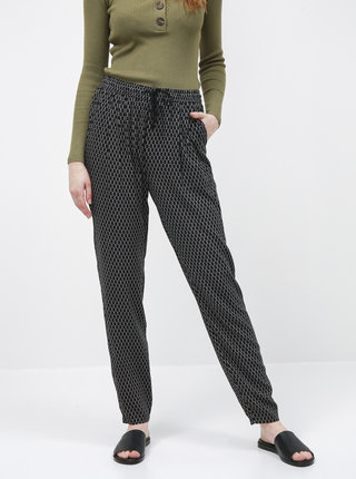 Černé dámské vzorované kalhoty ZOOT Baseline Erika