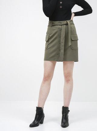 Zelená sukně Noisy May Hipe