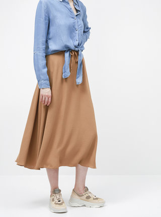 Hnědá midi sukně Haily´s Elin