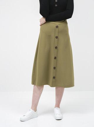 Kaki midi sukňa Jacqueline de Yong Bellis