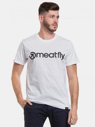 Biele pánske tričko s potlačou Meatfly Logo