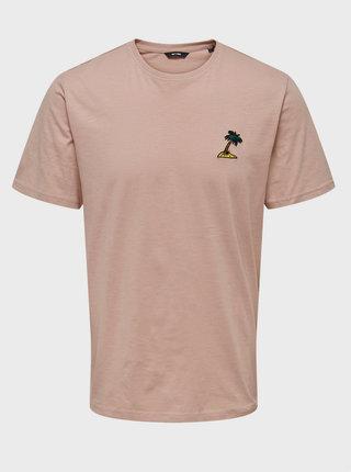 Růžové tričko ONLY & SONS Imas