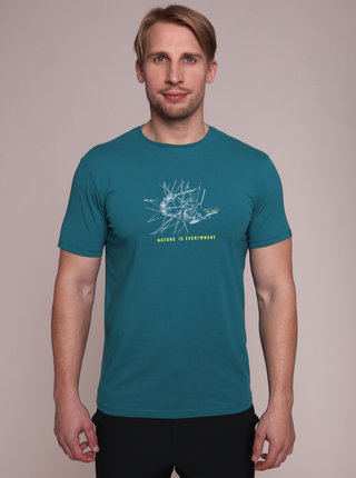 Modré pánské tričko s potiskem LOAP Anton