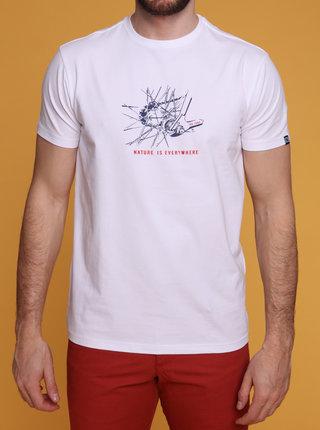 Biele pánske tričko s potlačou LOAP Anton