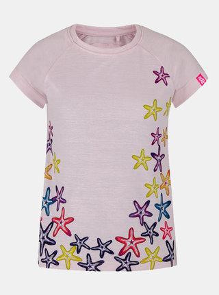 Růžové holčičí tričko s potiskem LOAP Ajta