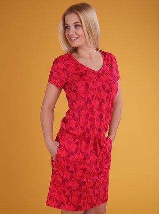 Červené dámske vzorované šaty LOAP Banyta
