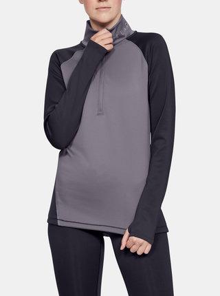 Fialové dámské tričko ColdGear Under Armour