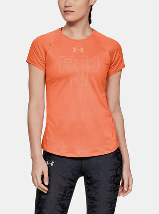 Červené dámské tričko Qualifier Under Armour