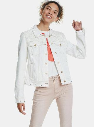 Bílá džínová bunda Desigual