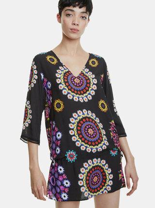 Černé vzorované šaty Desigual