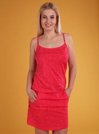 Růžové dámské vzorované šaty LOAP Barila