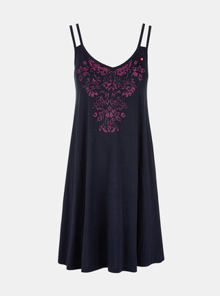 Tmavě modré dámské šaty s potiskem LOAP Barunka