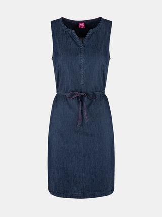 Tmavomodré dámske rifľové šaty LOAP Nermin